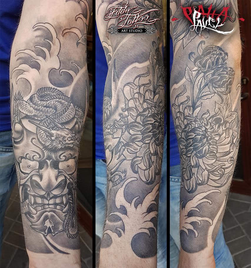 Japanese Style Sleeve Eddy Tattoo
